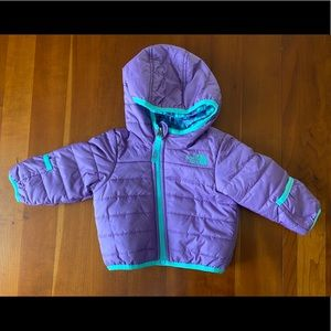 NWT THE NORTH FACE PURPLE TODDLER INFANT BUBBLE COAT WINTER JACKET SIZE 3-6M